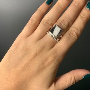 Set of 3 rings with zebra detailing